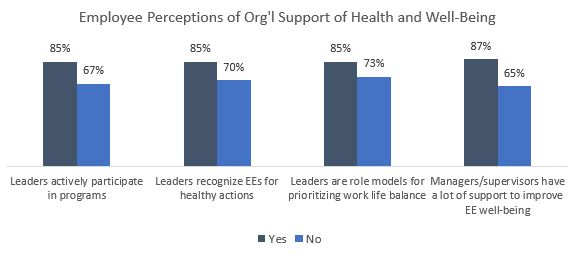 Organizational Support For Well Being Senior Leadership And