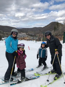 Greenberger family skiing in Utah