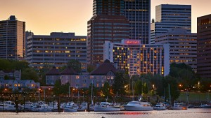 Portland Marriott at dusk