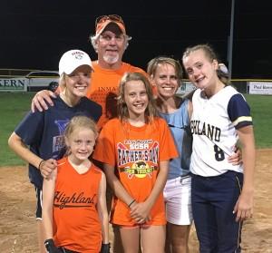 Bridget Neurer family softball