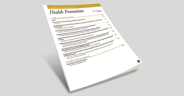 """The American Journal of Health Promotion's """"Best of 2019 List"""" of Health Promotion Research"""