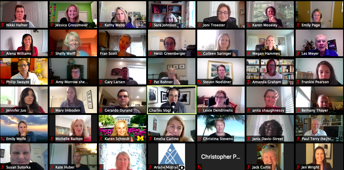 Screen shot of Think Tank virtual attendees